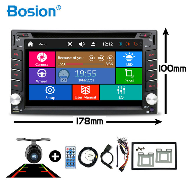 Car Multimedia 2 din Car DVD Player Double 2 din Universal Car Radio GPS Navigation In dash Car Stereo video Free Map Camera