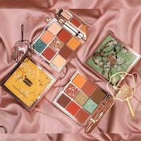 HOJO brand 9 Colors Eye Shadow makeup Palette Baked Shimmer Matte nude Eyeshadow Waterproof Glitter Powder Beauty Cosmetics