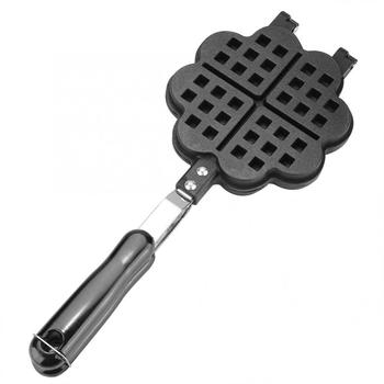 Non-Stick Waffle Maker Mold Portable Iron Waffles Baking Plate Kitchen Gas Pan Bubble Egg Cake Oven Breakfast Machine недорого