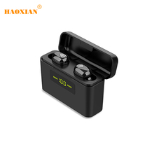 Bluetooth Earphone Sport Wireless Headset  Bass Earphones Dual Mic Mini In-Ear Waterproof Gaming