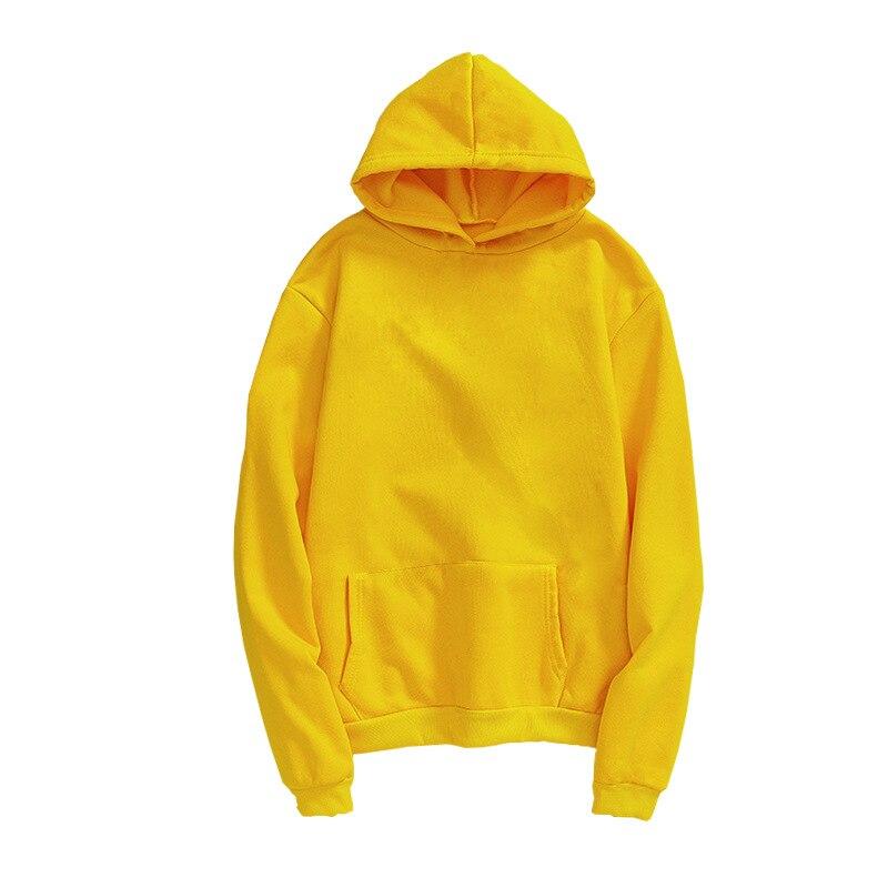 Unisex Man Woman Casual Solid Long Sleeve Hoodie Sweatshirt Plus Size Ladies Hoodie Couple Lovers Oversized Pullover Hoodie