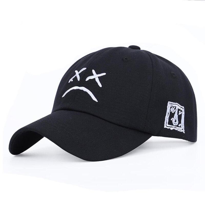 Dad Hat Embroidery 100% Cotton Baseball Cap Sad Face Hat Xxxtentacion Hip Hop Cap Golf Love Lil.peep Snapback Women Men