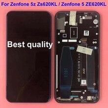 Asus zenfone 5 2018 gamme ze620kl lcd 디스플레이 터치 스크린 디지타이저 어셈블리 교체 부품 asus 5z zs620kl + frame