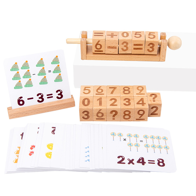 número jogo letra ortografia blocos de madeira