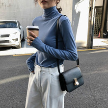Stacked collar jacket Autumn and Winter 2019 new high thin long sleeve bottom shirt