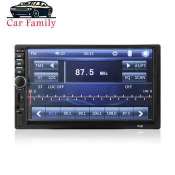 Radio Car 2 Din MP5 Player 7 Inch Touch Screen 2Din Autoradio With Rearview Camera Bluetooth FM AUX USB Mirror Link For Phone