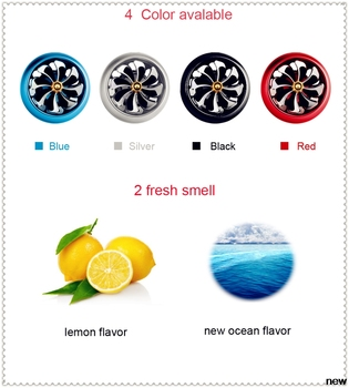 car Perfume Air Freshener Mini Fan Auto Air Vent Clip for Ford Mad Evos Stealth Start iosis F-450 Verve F150 Crown BF 4-Trac image