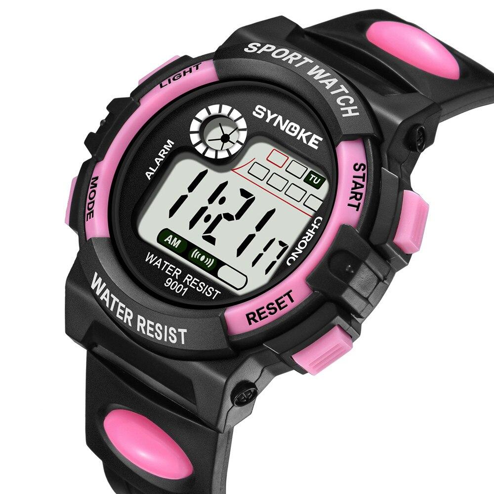 SYNOKE 2019 мальчики часы дети многофункциональные 30 м водонепроницаемые часы светодиодные цифровые двойные действия часы montre garcon enfant +% 23N03