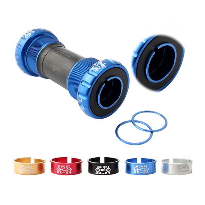 Bicycle Central Shaft Reducer Ring One-Piece Central Shaft Reducer Sleeve Adjustable Washer Adapter 24 To 22mm BB Axis