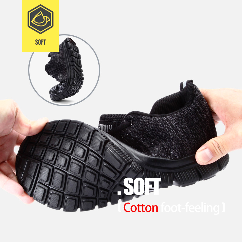 LARNMERN Men's Work Safety Shoes Steel Toe Lightweight Breathable Anti-smashing Non-slip Construction Protective Footwear 2