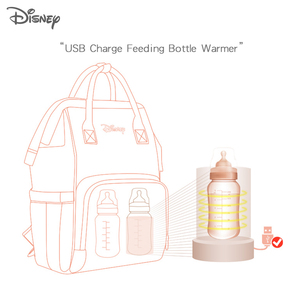 Image 5 - Disney Baby Diaper Backpack Moms Baby Nursing Bag Mother Maternity Nappy Changing Bag Travel Stroller USB Heating Mickey Series