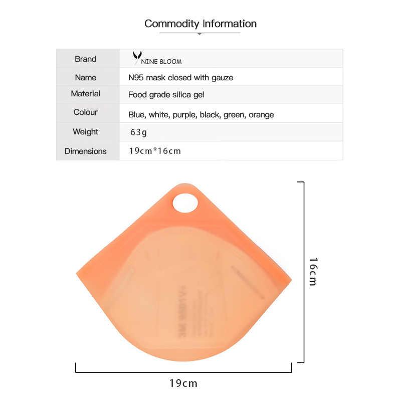6 สีN95 หน้ากากเก็บMulti-Function Moisture Proofป้องกันฝุ่นReusableใสครึ่งFace Shield Storageกล่อง