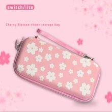 Kirschblüten Rosa Tasche für Nintendo Schalter Tragbare Lagerung Fall Harte Shell Box Nintend Schalter Lite Tasche NS NX Konsole abdeckung