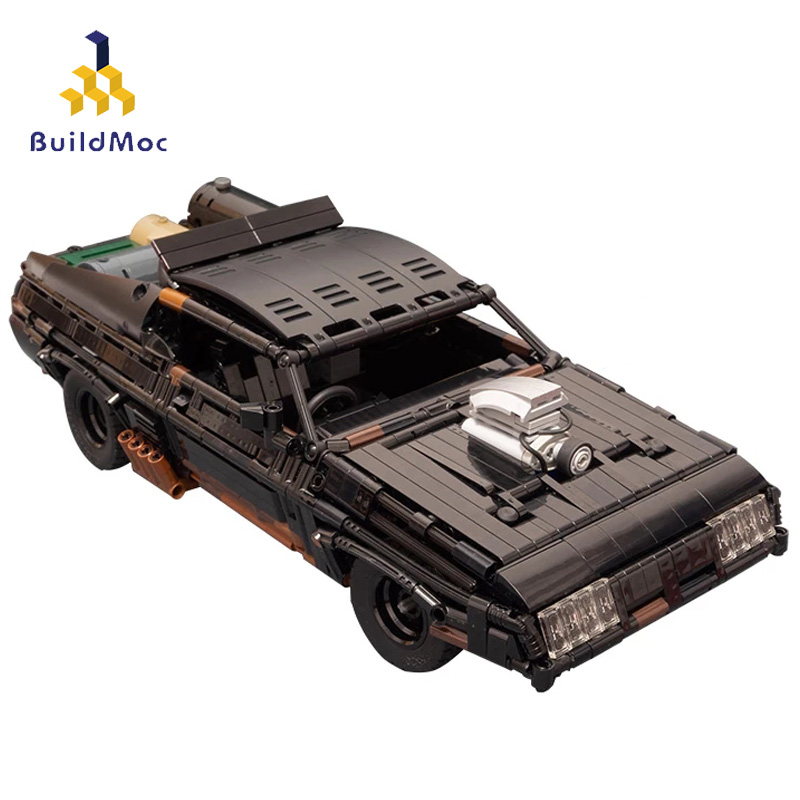 Buildmoc MOC-35846 Max черный перехватчик Technic RC мышечная машина модель суперкара строительные блоки мотор игрушки с дистанционным управлением подар...