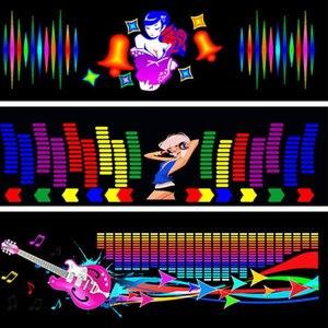 Image 3 - Voor Auto Achter Glas Led Equalizer Auto Neon El Licht Muziek Ritme Jump Flash Lamp Sticker Styling Met control Box