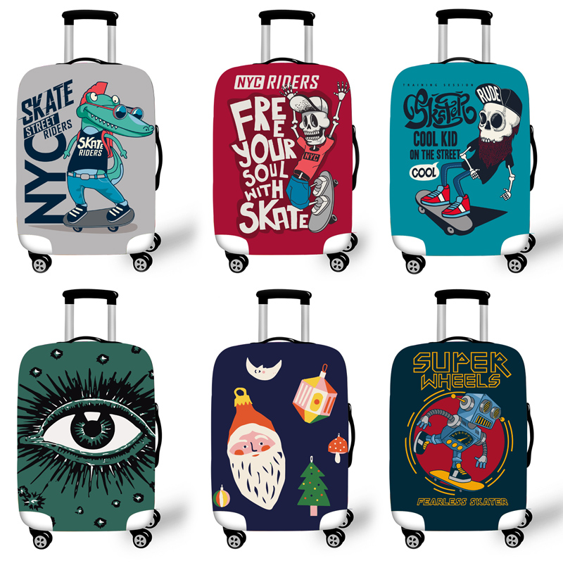 Elastic Luggage Protective Cover Case For Suitcase Protective Cover Trolley Cases Covers 3D Travel Accessories Crocodi LPattern