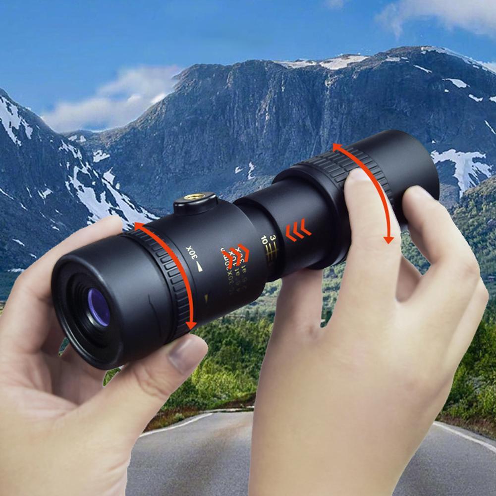Person - 4K 10-300X40MM Super Telephoto Zoom Monocular Telescope Waterproof for Smart Phones Bird Watching/ Hunting/ Camping