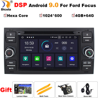 7 PX6 Hexa Core DSP Car DVD Player Android 9 InDash For Ford Transit Focus Connect S MAX Kuga Mondeo With Wifi 4G GPS Bluetooth