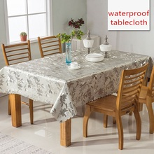 European style party table decoration cover PVC plastic waterproof oilproof cloth dining mat coffee tablecloths