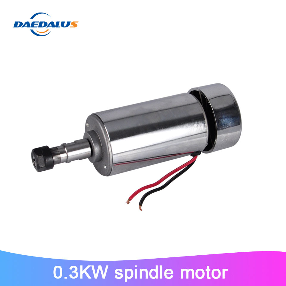 03KW Spindle Motor Air Cooled Spindle ER11 Milling Machine 52mm DC Motor For CNC Engraving Machine Tools
