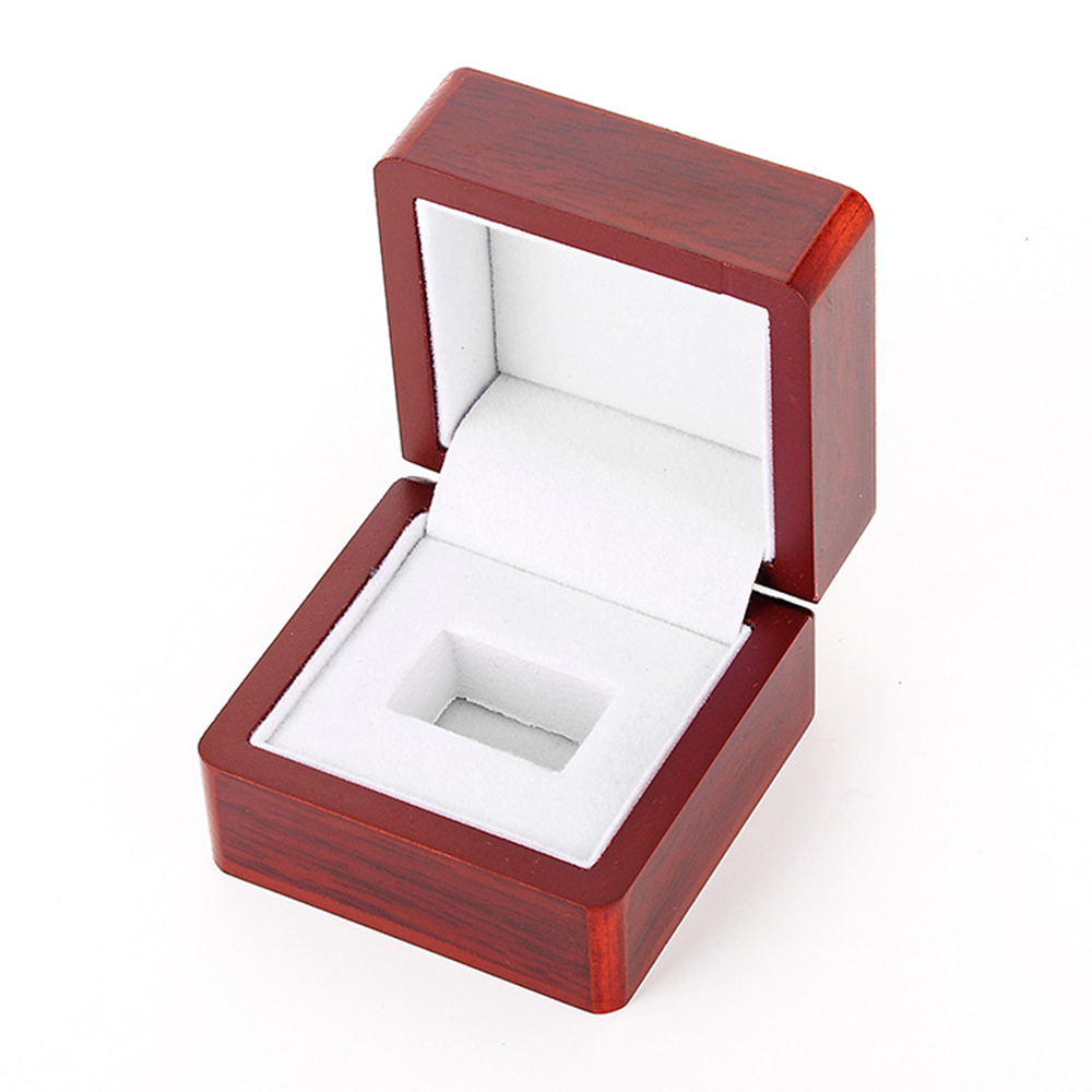 Finger Ring Display Box Jewelry Ornament Organizer Gift Box Portable Storage Case Packing Box Wood Single Hole Ring Box