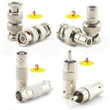 цена на 2/5/10Pcs BNC Connector Female to Female BNC Male to Male RCA Female BNC female to RCA Male Adapter for System Video CCTV Camera