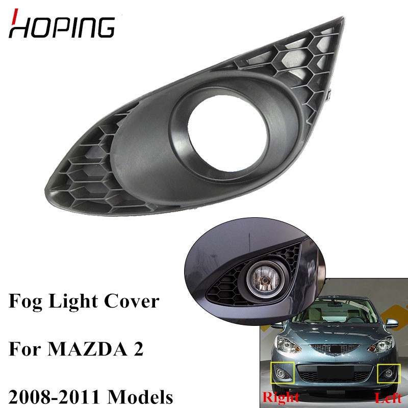 Hoping Auto Front Bumper <font><b>Fog</b></font> Light Cover For <font><b>MAZDA</b></font> <font><b>2</b></font> 2008 2009 2010 2011Replacement <font><b>Fog</b></font> <font><b>Lamp</b></font> Cover Cap image