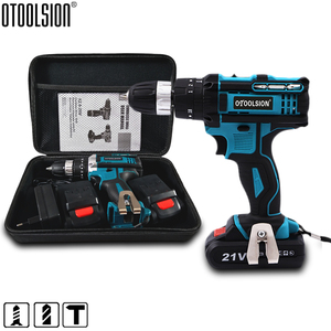 2 Speed 21V Impact Drill Impact Screwdriver Electric Wireless Power Tools Lithium-Ion Battery For Drilling In Steel Wood Ceramic