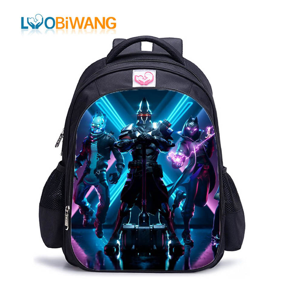 LUOBIWANG 2019 Game Battle Royale New Season X Children's School Backpacks For Boys And Girls Kids School Bags Plecak Mochila