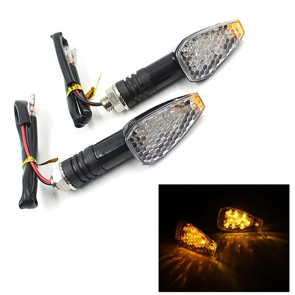 Indicadores LED de señal de giro para motocicleta, luz intermitente ámbar, lámpara LED de 12V para motocicleta, Diseño Universal superbrillante