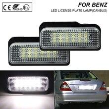 цена на 2pc White LED Car Rear License Plate Light Lamp for Mercedes Benz W211 W203 W219