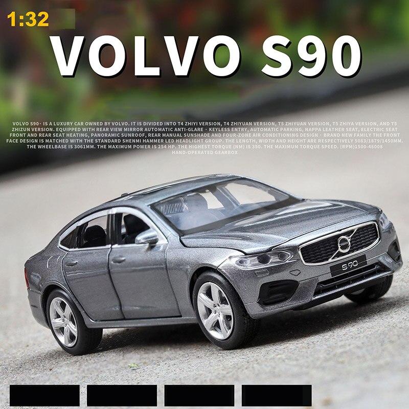 1:32 Alloy Car Model S90 Alloy Car Model Simulation Model Car 6 Door Sound And Light Pull Back Toy Car 5 Color