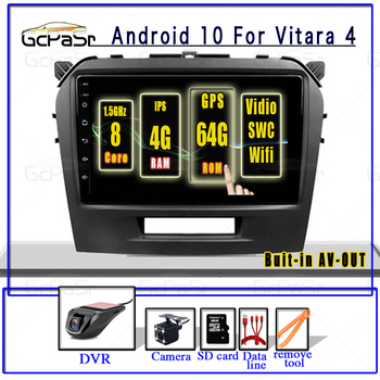 9 Android 10.0 IPS DSP Car Radio Multimedia Video Player For Suzuki Vitara 4 2014 2015 2016 2017 2018 GPS navigatio no 2din DVD image