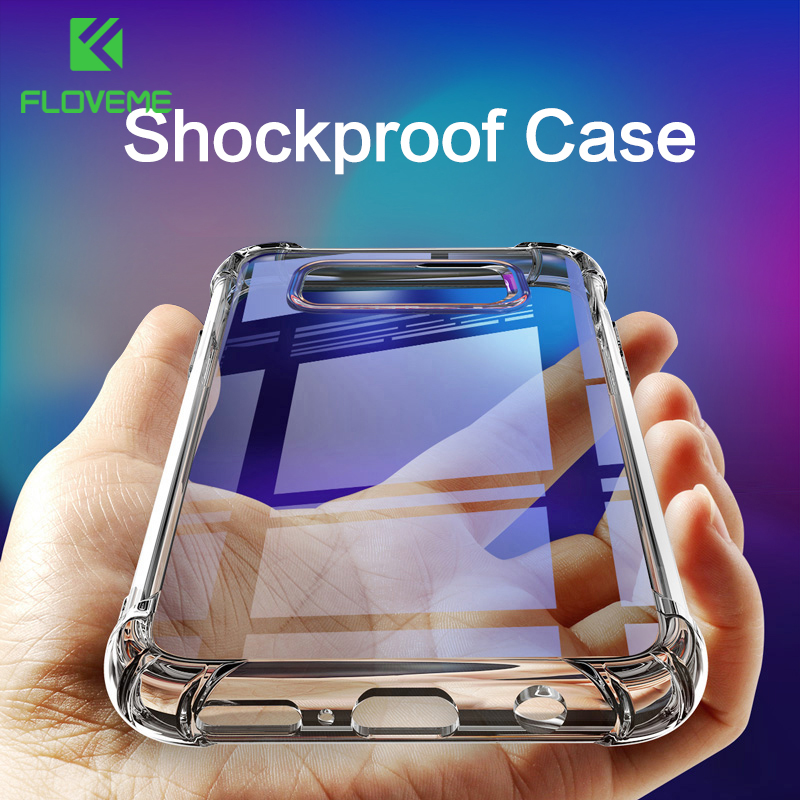 FLOVEME <font><b>Shockproof</b></font> <font><b>Case</b></font> for <font><b>Samsung</b></font> Galaxy S10 Plus S10e S8 <font><b>S9</b></font> Plus Soft Silicone Phone <font><b>Cases</b></font> for <font><b>Samsung</b></font> Note 9 8 S7 Back Cover image
