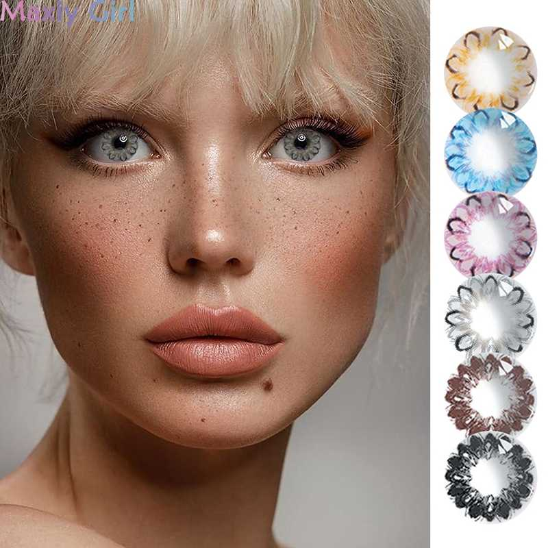 Big Eyes Beautiful Pupil Color Contact Lenses Donut Series Female