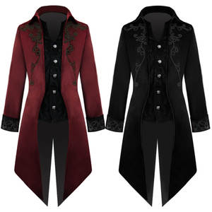 Cosplay Costume Coat Trench-Jacket Party-Dress Steampunk Edwardian Prince Frock Top Men