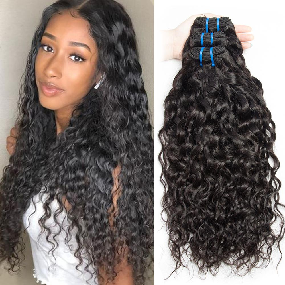 Indische wasser welle Menschliches Haar 3 Bundles Angebote 100 Indisches Haar Spinnt Doppel Schuss Natürliche Remy Haar Extensions 8- 30 zoll