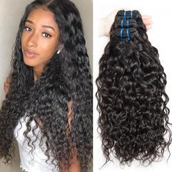 10-30inch Brazilian Water Wave Human Hair 3 4 Bundles Deals 100% Brazilian Hair Weaves Bundle Double Weft Natural Hair Extension
