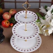 Новые 3 Круглый Ланч-бокс одежда для свадьбы, дня рождения тарелка для торта сладостей лоток для Дисплей башня горячего непластинчатый элемент