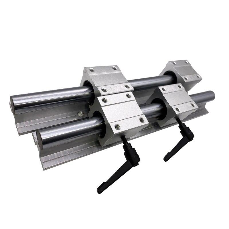 Бесплатная доставка линейные рельсы 2 шт. SBR10 200 300 350 450 мм + 4 шт. SBR10 линейный подшипник для горного велосипеда блоки для ЧПУ линейные рельсы на...