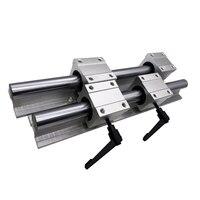 Free shipping 2pcs SBR20 500 550mm Linear Guide Rail and 4pcs SBR20UU Linear Bearing Blocks for CNC parts 20mm Linear Rail