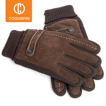 Touch Screen Winter Warm Men's Gloves Genuine Leather Casual Mittens for Men Outdoor Sport Full Finger Glove  ST030 - discount item  49% OFF Gloves & Mittens