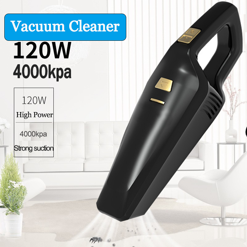 4000Pa Car Vacuum Cleaner 120W Strong Suction Portable Handheld Vacuum Cleaner