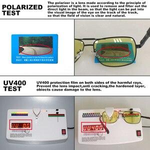 Image 3 - Kwadratowe okulary mężczyźni spolaryzowane fotochromowe dzień bezpieczeństwo w nocy jazdy okulary kobiety HD kwadratowe okulary gafas de sol hombre