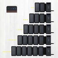 Cargador de Panel Solar impermeable plegable desmontable al aire libre cargador inalámbrico Qi portátil banco de energía Solar LED 12000mAh para teléfonos