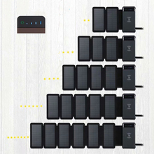 Outdoor Detachable Foldable Waterproof Solar Panel Charger Portable Qi Wireless Charger LED Solar