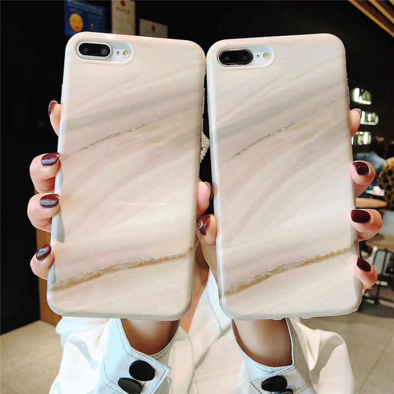 Цветной IMD мраморный чехол для iPhone 7 XR роскошный мягкий силиконовый чехол для iPhone X XS MAX 6 s 6s 8 7 Plus 7 Plus модная задняя крышка