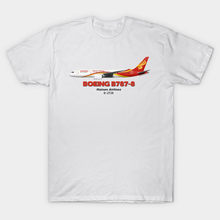 Men t-shirt Boeing B787 8 Hainan Airlines tshirt Women t shirt(China)