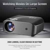 Vivibright F10 LCD MINI Projector 2800 Lumens 1280*720P 3D Projector HDMI USB Proyector 23 Languages Speaker Home Theater