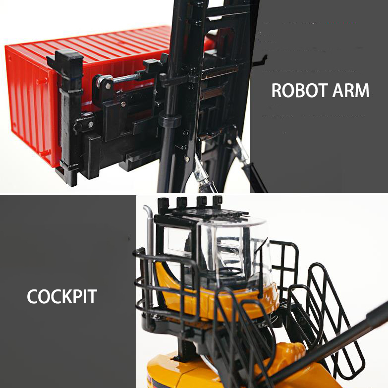 1//50 Scale Container Stacker Forklift Truck Car Engineering Model Toy Boxed Gift